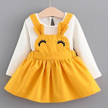 Melario Baby Dress 2018 Autumn Winter Baby Girls clothes Long Sleeve Princess Girls Dress