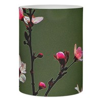 Beautiful cherry blossoms on a LED cndle Flameless Candle