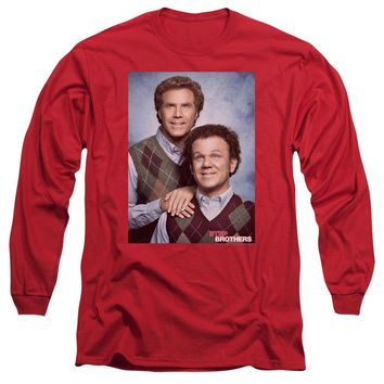 Step Brothers Long Sleeve T-Shirt Portrait Red Tee