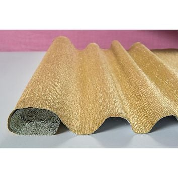 Heavy Duty Metallic Color Italian Crepe Paper Roll