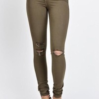 VONEB7F Kan Can Olive Skinny Jeans