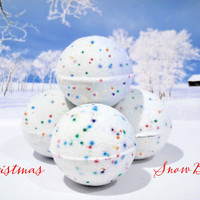 Winter Snow Balls Bubble Bath  Pack of 6  Holiday by SunKidGifts