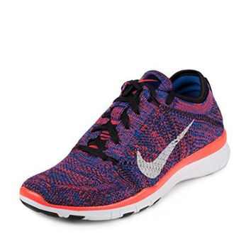 DCCK8BW Nike Womens WMNS Free TR Flynkit Black/White/Racer Blue-Bright Crimson Fabric Size 6