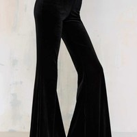 Nasty Gal Annabel Lee Velvet Flare Pants