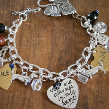 Dachshund Doxie Custom My Memorial Bracelet Dog Pets