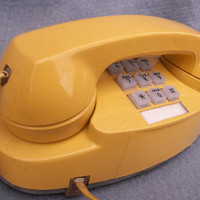 Mod Phone Yellow- High Fashion Land Line Looks - Touch Tone - Ring a ding ding ... hello.