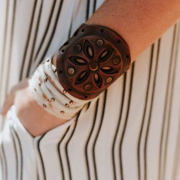 Sunburst Leather Cuff