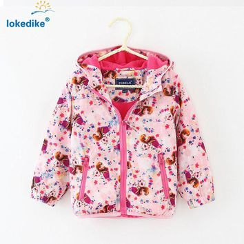Girls Outerwear Coat Coat Hooded jacket Toddler Outwear T694