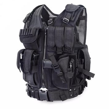 Police Tactical Vest Outdoor Military Body Armor