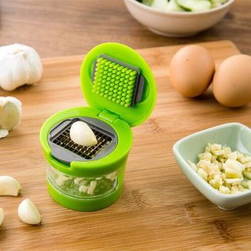 Kitchen Gadgets Mini Garlic Chopper Press Garlic Mincer Slicer Dicer Grater