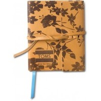 TOMS Tan Floral Leather Travel Journal