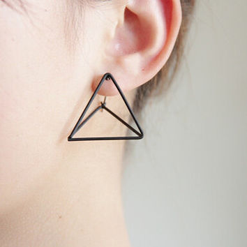 Punk Triangle Earrings