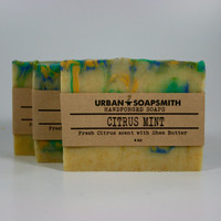 Citrus Mint Soap - Cold Process Soap - Handmade Soap