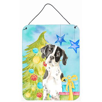 Christmas Tree English Pointer Wall or Door Hanging Prints CK1880DS1216