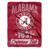 Alabama Crimson Tide NCAA Micro Raschel Blanket (Varsity Series) (48x60)