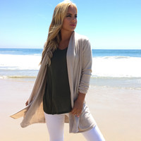 Soften Up Cardigan In Oatmeal