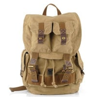 Rugged canvas travel rucksacks | Cool daypack mens