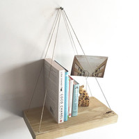 Handmade Hanging Shelf, Rustic, Beach, Decor, Reclaimed Wood, Home Decor,Repurposed, Wood, Furniture, Book Shelf, Floating Shelf