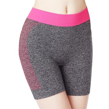 6 Colors Color Waist Women Gym Compression Booty Shorts Spandex Ladies Volleyball Running lycra Athletic