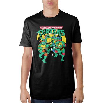 MPTS Mens Classic Teenage Mutant Ninja Turtles  T-Shirt