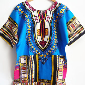 New African Dashiki Fashion Design African Traditional Floral Print Dashiki Dress