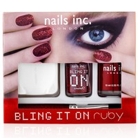 nails inc. Bling It On Ruby Collection