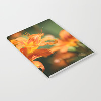 Day Lily Dance Notebook by Theresa Campbell D'August Art