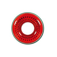"""42"""" Red Watermelon Fruit Inflatable Swimming Pool Inner Tube Ring Float"""
