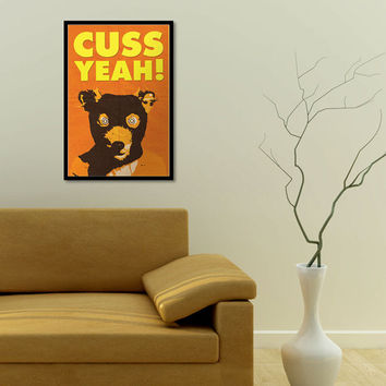 Fantastic Mr. Fox Poster, Cuss Yeah! 18x24 Mr. Fox Movie Poster Art Print