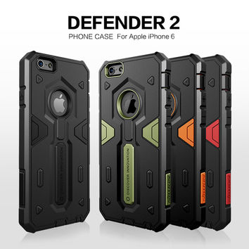For iPhone 6 Case Nillkin Defender Neo Hybrid Tough Armor Slim Cover Case For Apple iPhone6 4.7'' Mobile Phone Bag Back Cover