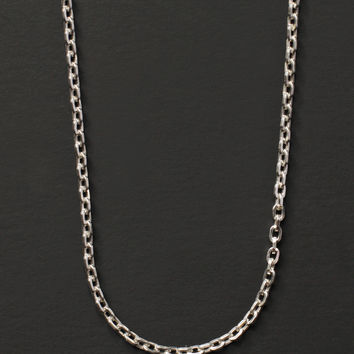 Sterling Silver Cable Chain Necklace for Men