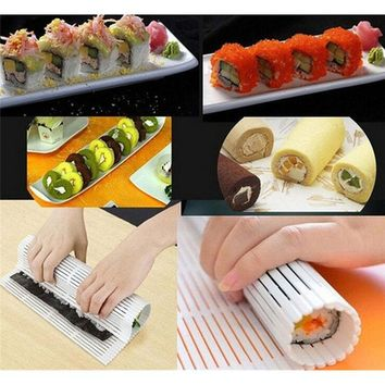 DIY Sushi Roller Market Sushi Rolling Mat Roller Preparation Tools Anti-Moisture Sushi Maker Food Grade PP Japan Design