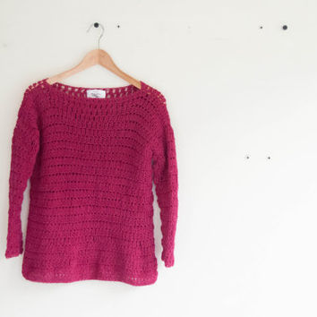 Loose fit winter sweater crochet pattern