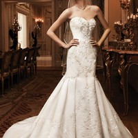 Casablanca Bridal 2124 Fit and Flare Wedding Dress