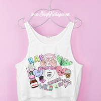 Teen's Life Crop Tank Top