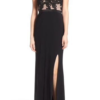 Jump Apparel 'Lucia' Strapless Lace Bodice Gown | Nordstrom
