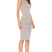 James Perse Open Back Skinny Dress in Dapple | REVOLVE