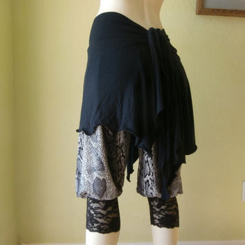 Gaucho Babucha Dancewear Pants-with Slit's  Argentinian Tango Pants black  Salsa Dancing Harem Pants