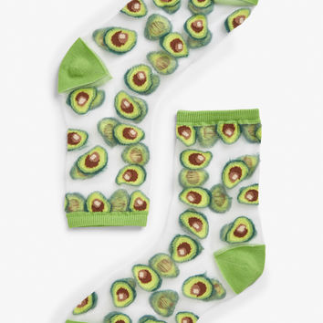 Avocado socks - Two avocados please - Socks & Tights - Monki GB
