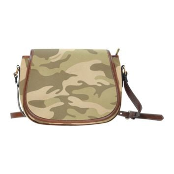 Women Shoulder Bag Autumn Camouflage Saddle Bag Large