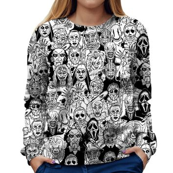 Horror Villains Womens Sweatshirt