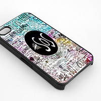 5 Seconds Of Summer Lyrics for iphone 4/4s case, iphone 5/5s/5c case, samsung s3/s4 case cover