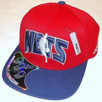 NBA New Jersey Nets 2 in 1 Visor Flex Adidas Hat - S/M - TV11Z