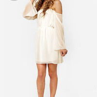 LULUS Exclusive Maiden Heaven Off-the-Shoulder Ivory Dress