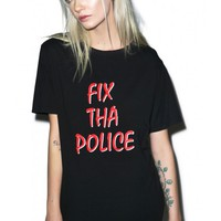 Lazy Oaf Fix Tha Police T-Shirt | Dolls Kill