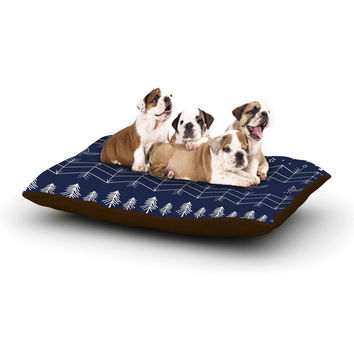 "Famenxt ""Tribal Night Arrows Jungle"" Blue Digital Dog Bed"