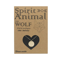 Spirit Animal Necklace - The Wolf