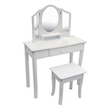 Guidecraft Classic White Vanity and Stool - G85710