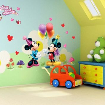 cartoon 3D kids mickey mouse home decor wall stickers for kids room 602 Baby Nursey Wall Decals
