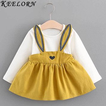 Keelorn Baby Girl Dress Autumn baby clothes Fashion Long Sleeves princess Dress Newborns Birthday Dresses 2017 New Girls Clothes